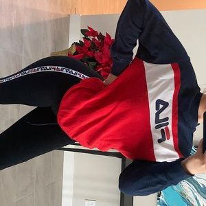 FILA leggings + matching crew neck (sold as a set)